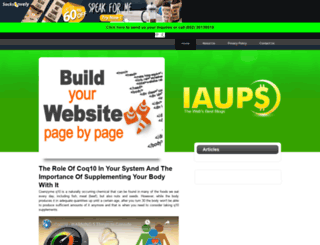 iaups.org screenshot