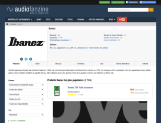 ibanez.audiofanzine.com screenshot