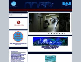 ibb.ut.ac.ir screenshot