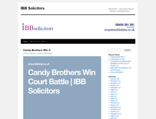 ibbsolicitors.wordpress.com screenshot