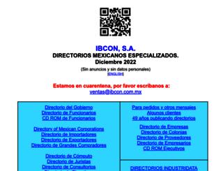 ibcon.com.mx screenshot