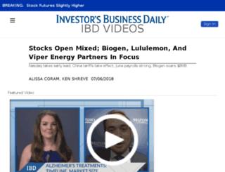 ibdtv.investors.com screenshot