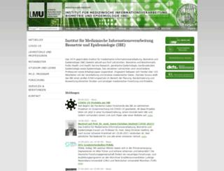 ibe.med.uni-muenchen.de screenshot
