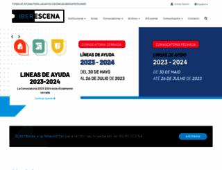 iberescena.org screenshot