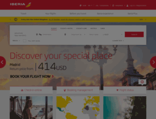 iberia.com screenshot