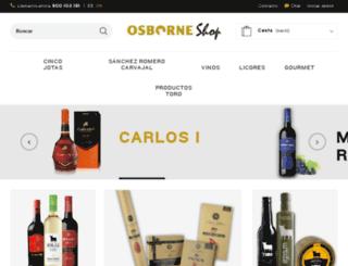 iberiaplus.tiendaosborne.es screenshot