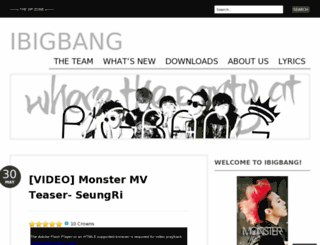 ibigbang.wordpress.com screenshot