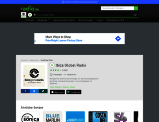ibizaglobalradio.radio.de screenshot