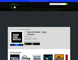 ibizaonedeeplounge.radio.de screenshot