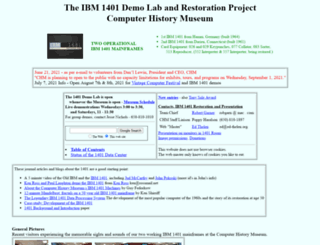 ibm-1401.info screenshot