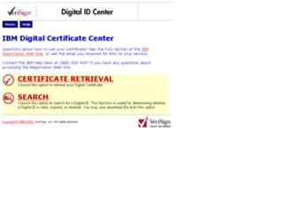 ibm-enroll.verisign.com screenshot