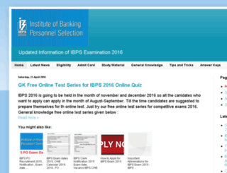 ibps-2015.in screenshot