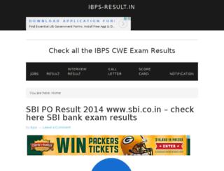 ibps-result.in screenshot