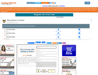ibpspo.testbag.com screenshot