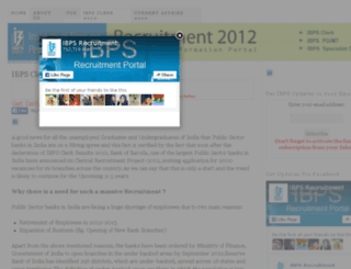 ibpsrecruitment2012.in screenshot