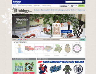 ibroidery.com screenshot