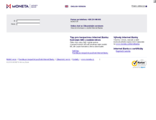 ibs.internetbanka.cz screenshot