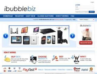 ibubblebiz.co.za screenshot