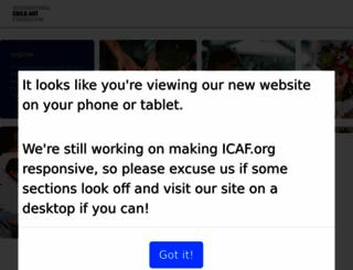 icaf.org screenshot