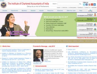 icai-exam.icai.org screenshot