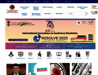 icai.org screenshot
