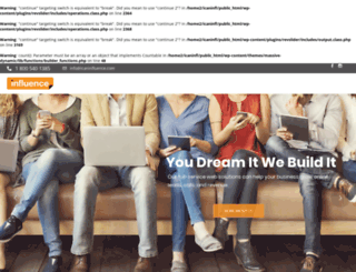icaninfluence.com screenshot