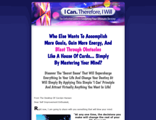 icanthereforeiwill.com screenshot