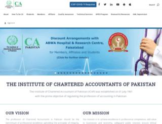 icap.org.pk screenshot