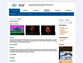 icar.univ-lyon2.fr screenshot