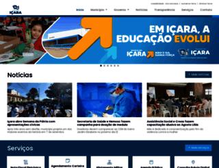 icara.sc.gov.br screenshot