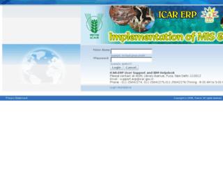 icarerp.iasri.res.in screenshot