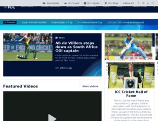 icc-africa-cricket.com screenshot