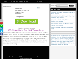 icccricketworldcup2015song.com screenshot
