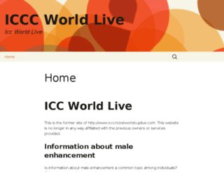 icccricketworldcuplive.com screenshot