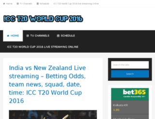 icct20worldcup2016.co screenshot