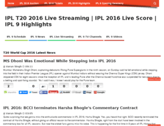 icct20worldcup2016livestreaming.com screenshot