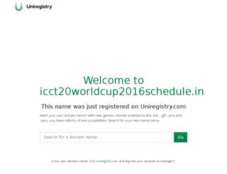 icct20worldcup2016schedule.in screenshot