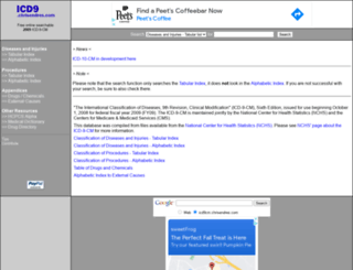 icd9cm.chrisendres.com screenshot