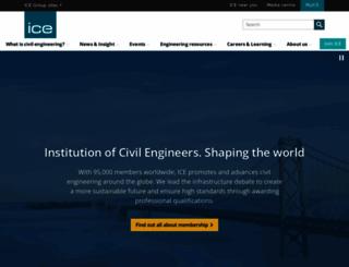 ice.org.uk screenshot