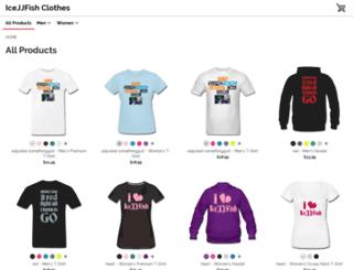icejjfish.spreadshirt.com screenshot
