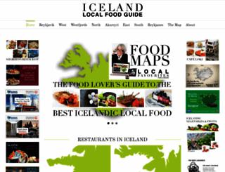 icelandlocalfood.is screenshot