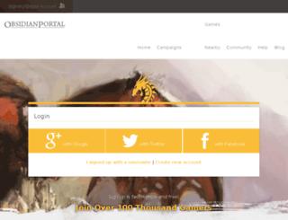 icemarch.obsidianportal.com screenshot
