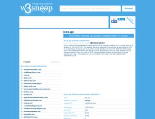 ices.ge.w3snoop.com screenshot