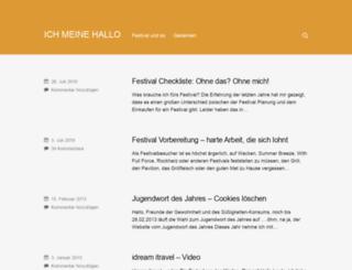 ichmeinehallo.de screenshot