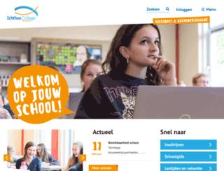 ichthuscollege.nl screenshot