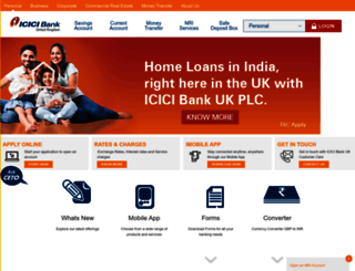 icicibank.co.uk screenshot