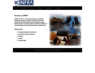icinfra.com.mx screenshot