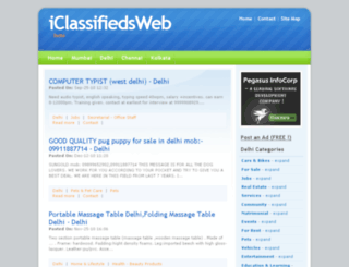 iclassifiedsweb.com screenshot