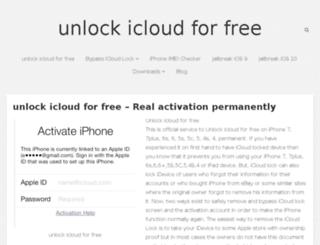 icloudfreeunlock.com screenshot