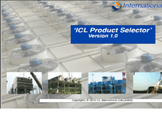 iclproductselector.com screenshot